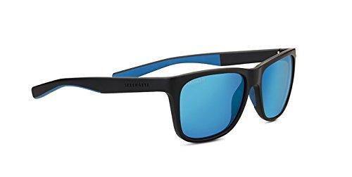 Serengeti Livio Sunglasses Sanded Black/Blue Unisex-Adult Medium