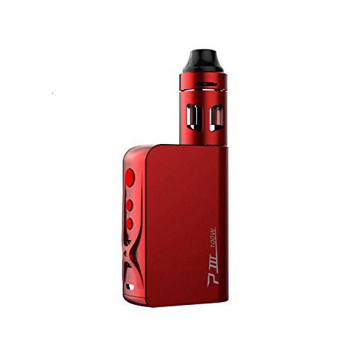 Vaptio P3 E-Cigarette Starter Kit, Electronic Cigarette 100 W Shisha Vaporizer Vape with 3000 mAh Electronic Sigara Box Mod E-Cigarettes and Smoke Vaper No Nicotine (rot) (rot)
