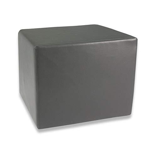 Fränkische Schlafmanufaktur Stufenlagerungswürfel, Bandscheibenwürfel, Lagerungswürfel, mit Soft-Kunstlederbezug, ca. 45x40x35 Farbe Grau
