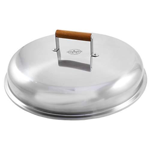 MUURIKKA Deckel 58cm für Feuerpfannen, Bratpfannen, Wok-Pfannen und Paella Pfannen, Edelstahl, Universal