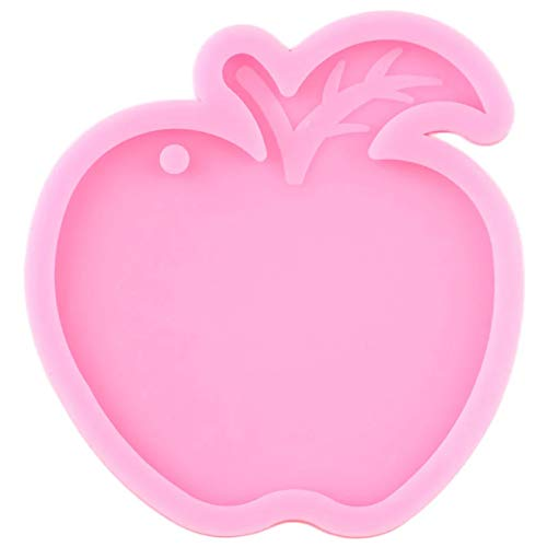 WYNYX Shiny Glossy Apple Keychains Mould Resin Silicone Epoxy Molds For Pendant Making Polymer Clay Moulds