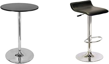 Winsome 93628 Spectrum Dining, Black & 93129 Spectrum Stool, Black