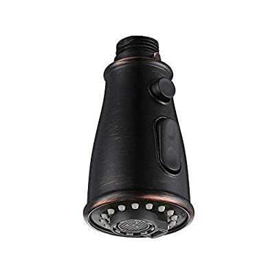 DESFAU Pull Out Spray Head For Kitchen Faucet,3 Function Kitchen Sink Faucet Spray Head Replacement, Oil Rubbed Bronze Finish 1901ORB Kitchen Faucet Head Replacement, Only for G1/2 (MALE)