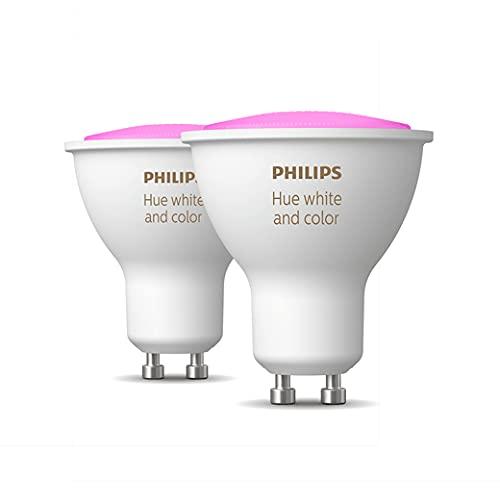 Kit 2 Lâmpadas Inteligente Philips Hue base GU10 127V