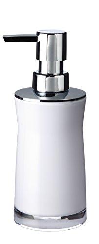 RIDDER 21035010 Distributeur de Savon Disco, Synthétique, Blanc, 6,5 x 6,5 x 19 cm