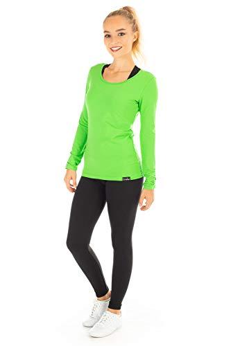 Winshape WS1 Tee-Shirt à Manches Longues pour Femme Coupe étroite pour Loisirs et Sport M Vert - Vert Pomme