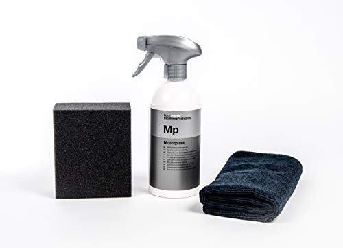 Motorplast Motorkonservierer + Clean 2 Schwamm + Clean 2 Schwarzes Mikrofasertuch 40 X 40 cm