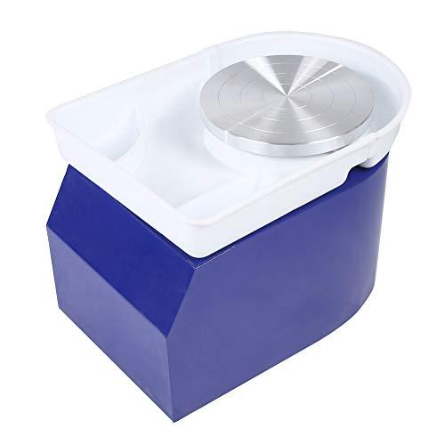 Ausla Máquina de Torno de cerámica eléctrica, Máquina de moldeo de Arcilla, 350W 24cm Máquina formadora de Ruedas de cerámica, Herramientas para Manualidades con Pedal(Azul)