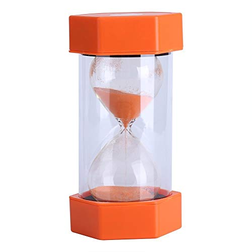 Yosoo Minuterie Sablier 3/10/20/30/60minutes Minuteur Horloge Management décoration Cuisine Cadeau Maison Bureau(20 Minutes Orange)