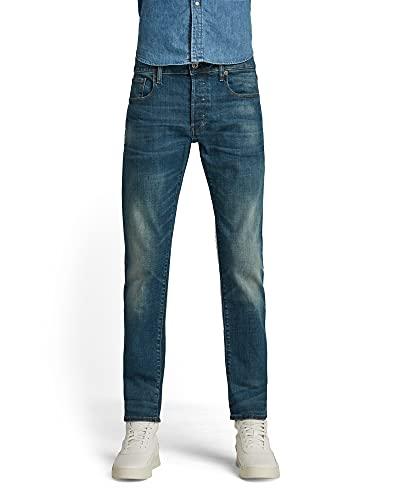 G-STAR RAW Herren 3301 Slim Fit Jeans, Medium Aged 9118-071, 36W / 30L