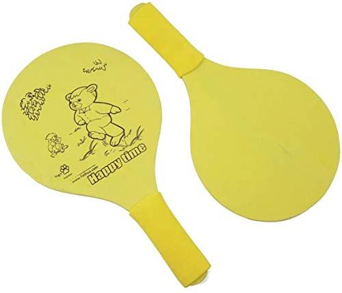 HLD Paddle Ball-Spiel, Paar Strandball Paddle Badminton-Schläger Cricket-Schläger Holz Paddles Holzschläger Paddles Set Outdoor-Spiel for Erwachsene Kinder-Indoor Outdoor Spielzeug - Spiel am Strand,
