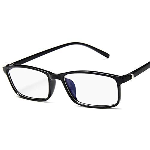 Gafas anti-luz azul anti azul fatiga protección bloqueando gafas ojo cuadrado (Frame Color : Matte black)