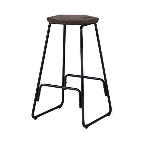 Art De Fer Tabouret De Bar Chaise De Bar Moderne Simple Ménage Tabouret Haut Nordique Chaise De Bar Noir Cadre De Chaise (Couleur : G)