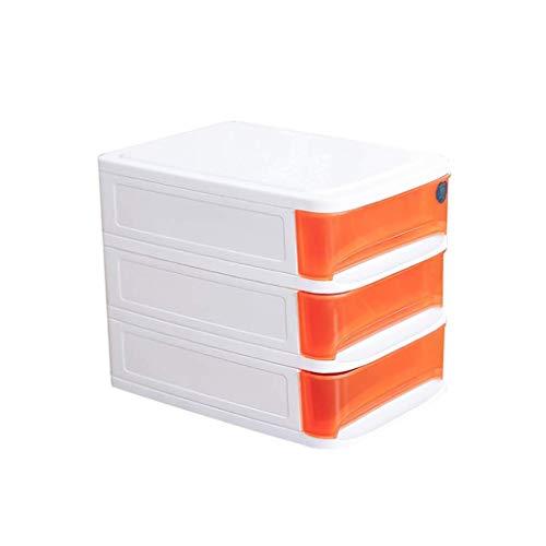 LHQ-HQ Estante de periódicos de mesa de oficina, caja de acabado cosmético, estante de periódicos, tipo de cajón, dormitorio, baño y estante diverso azul (color: C1, tamaño: 3 capas)