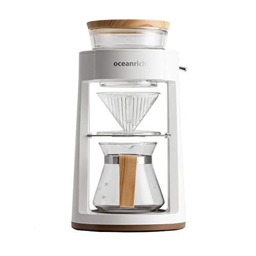 OCEANRICH Automatic Coffee Machine Drip Maker Home Coffee Maker Drip Coffee Pot Filter (CR8350AD, White)