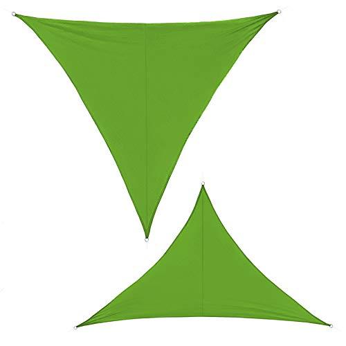 BB Sport Sonnensegel 3m x 3m x 3m Smaragd Dreieckig Sonnenschutz 100% PES Sichtschutz Windschutz Tarp UV Schutz Garten Terrasse Camping Schattenspender