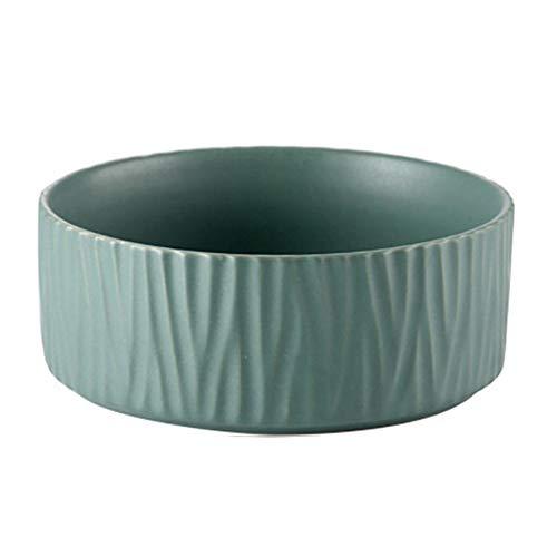 Schildeng Bol à Salade en céramique Motif Nordique 650 ML, Vert, 15.5cm