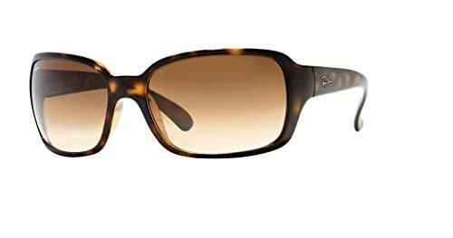 Ray-Ban RB4068 710/51 60M Light Havana/Brown Crystal Gradient Sunglasses For Women