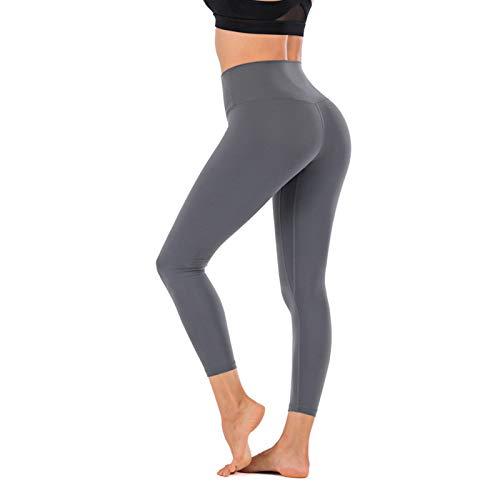 WANGT Leggings De Yoga para Mujeres Mallas Pantalones Deportivos con Bolsillos,Control De Cintura Alta Y Barriga,Elásticos Y Transpirables para Running Yoga Fitness Gym,S