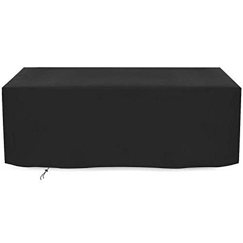 Gartenmöbelbezug, Wasserdicht Und Atmungsaktiv Oxford Stoff Gartenstuhlbezug UV-Schutz Outdoor Möbelbezug (308x138x98cm) - Schwarz