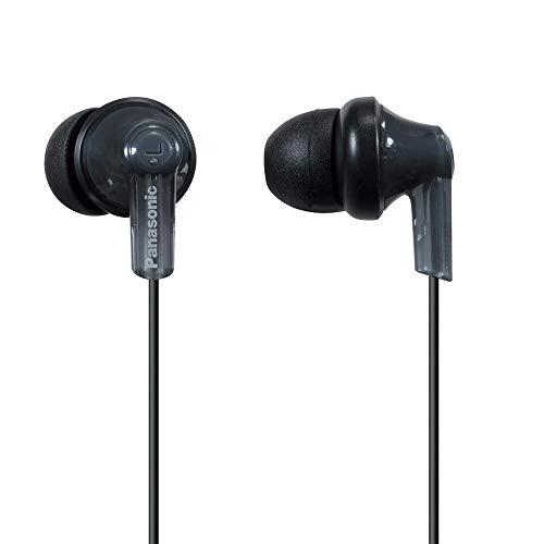 Panasonic ErgoFit In-Ear Earbud Headphones RP-HJE120-K (Black) Dynamic Crystal Clear Sound, Ergonomic Comfort-Fit (Renewed)