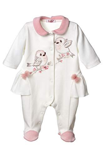 Sofija Baby Mädchen Schlafanzüge Spieler Neugeborene Kleidung Pyjama 0-12 Monate Schlaf und Spielen Strampler Eljana Gr. 62 cm, Natur