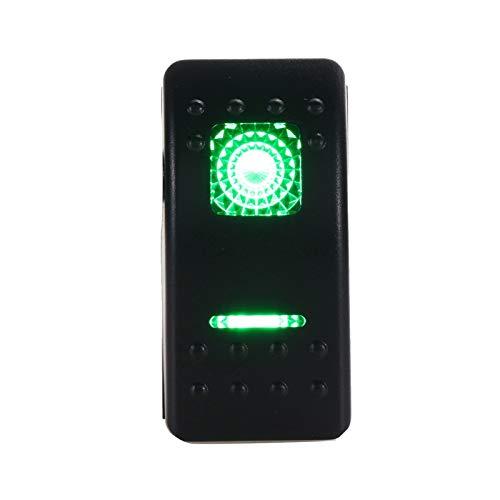 HSHUIJP Estilismo de automóviles y Accesorios corporales Interruptor de botón LED Universal 12V 7 Pins LED OFT-Off-Off-Off-OFN CLOQUEO DE Rocker DE AUTROJE Automotriz (Color : Green)