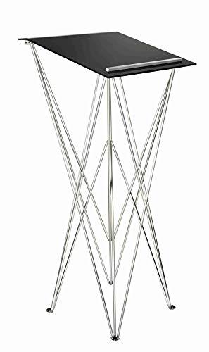 Spider Pult - Pupitre para escribir de pie plegable, ligero y robusto, móvil, disponible en diferentes alturas y colores, de aluminio y acrílico, tribuna configurable a nivel individual
