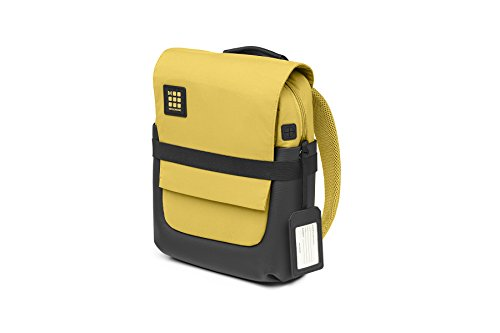 Moleskine ID Collection Zaino da Lavoro Professionale Waterproof Device Backpack per Tablet, Laptop, PC, Notebook e iPad Fino a 15'', Dimensioni 27 x 11 x 36 cm, Colore Giallo Ambra