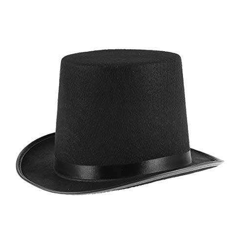 ABOOFAN Magician' Hat Sombreros Top Hat Mago Costume Party Dress Up Accesorio (negro)