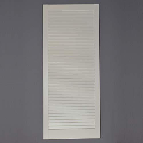 Lamellentür Kiefer weiss lackiert mit geschlossenen Lamellen 99,3 cm x 39,4 cm in 21 mm Stärke - Staubdicht, Lichtdicht - weiße Lamellentüren als Schranktür, Möbeltür oder Regaltür