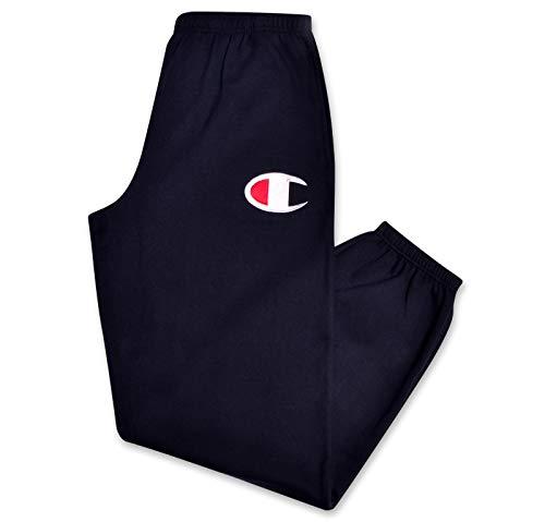 Champion Mens Big and Tall Fleece Jogger Sweatpants with C Logo Navy 5X
