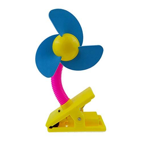 GUMEI Ventilador de Clip de Mano portátil Ventilador silencioso Enfriador de Aire para Cuna de Cochecito de bebé