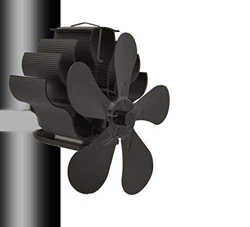5 Flügel Stromloser Ventilator Für Kamin Holzöfen Öfen, Rotorblätter Kamin-Ventilator,Ofenventilator Feuerstelle Kaminöfen Ofen Fan Ohne Strom