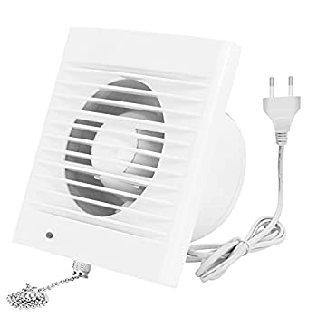 Exhaust Fan 188 CFM 18W 320m³/h Ventilation Extractor with Anti-backflow Check Valve Chain Switch Window and Wall Mount Vent Fans for Kitchen Bathroom Greenhouse Garage  6 inch / 110V