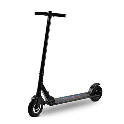 Mini Electric Erwachsene Roller Mit LCD-Anzeige Leichtklapp Stadt Scooter 8.8Ah Li-Ion-Akku 8-Zoll-Reifen Höchstgeschwindigkeit 25 Km/H (Color : Black)