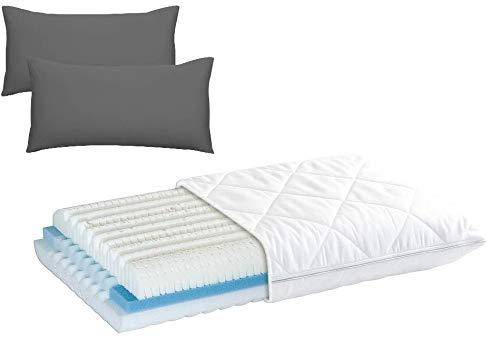 Wolkenwunder Jersey-Kissenhüllen 40x80cm Doppelpack (Farbe wählbar) mit Diamona Climatic® Nackenstützkissen