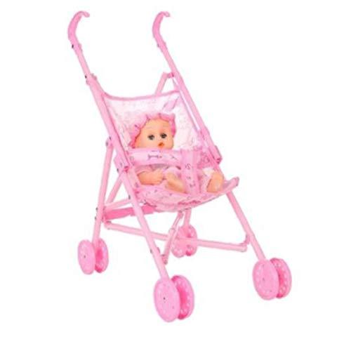 nJiaMe Cochecito Nursery Muebles Juguetes Muñecas Carro Plegable con los de 12 Pulgadas para Mini Cochecito Regalo de los Juguetes de los niños del Cabrito del Regalo del día