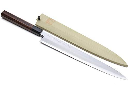 Yoshihiro Hongasumi Blue Steel Yanagi Sushi Sashimi Japanese Knife Rosewood Handle (240mm/9.5'')
