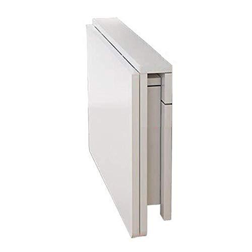 Inklapbare muurschrijftafel hangende opbergtafel schrijftafel computerstandaard educatief salontafel ruimtebesparend multi-formaat optioneel wit 100x40cm 80 x 40 cm, wit