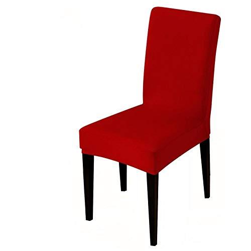 UIRK Esszimmer Stretch Stuhlhussen,Modern Dining Chair Protector Weinrot Einfarbig Klassisch Abnehmbare Waschbare Elastische Stuhlsitzbezüge Für Hotelhochzeitsbankett, 2 Stück/Packung