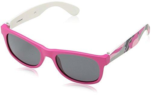 Polaroid P0300 Y2 TCS Gafas de sol, Rosa (Pink Camuouflage Fuchsia/Grey Polarized), 43 Unisex Niños