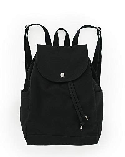 BAGGU Canvas Backpack, Durable and Stylish Simple Canvas Satchel for Daily Essentials, Ochre