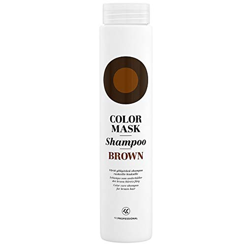 Color Mask Shampoo Brown - Sulfate Free Toning Shampoo for Brown and Dark Brown Hair - Color Depositing Shampoo Brown, VEGAN, 8.5 oz - KC Professional