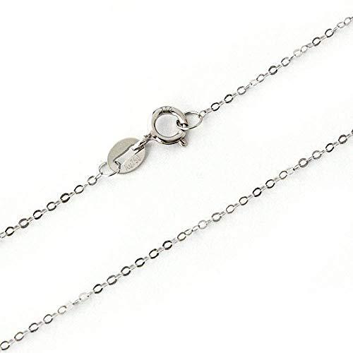 One&Only Jewellery K18 アズキチェーン 小豆 選べる長さ 18金 (ホワイトゴールド/50cm)