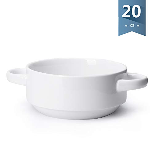 Porcelain Bowl with Handles