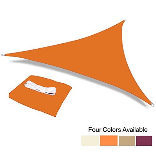 Impermeabile 95% Anti-UV Poliestere Triangolo Tenda da Sole Shading Net Parasole Sail Esterna Sdraio Capanno Canopy Ombra Panno (Color : Orange, Size : 5x5x5m)