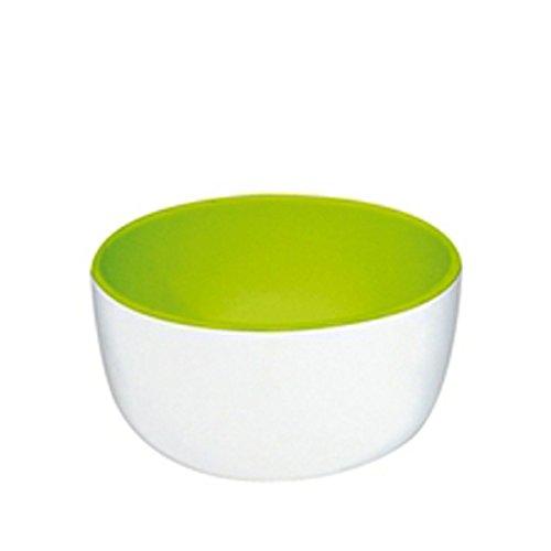 ZAK Designs 1283-8240 Duo, Ciotola per Gelato, Colore: Bianco/Verde