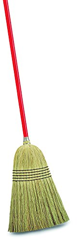 Libman Commercial 502 Janitor Corn Broom (Pack of 6),Corn/Red