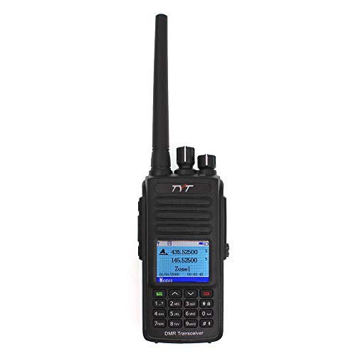 TYT MD-UV390 GPS Dual Band MD-390 UHF VHF DMR Two Way Radio IP67 Waterproof with USB Programming Cable